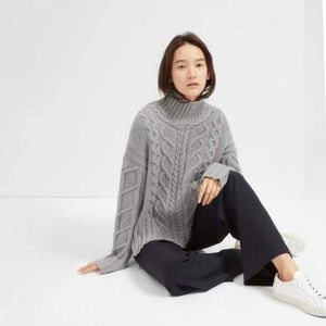 Everlane The Wool-Cashmere Cable Turtleneck